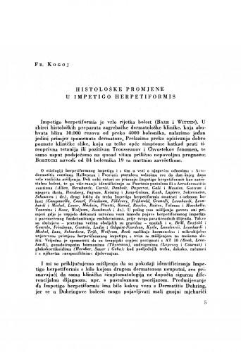 Histološke promjene u Impetigo herpetiformis