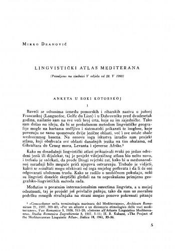 Lingvistički atlas Mediterana