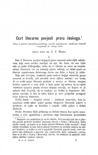 Ocrt literarne povjesti prava českoga : RAD