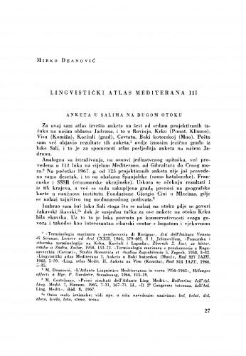Lingvistički atlas Mediterana III