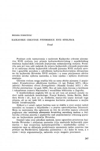 Kajkavske crkvene pjesmarice XVII stoljeća / B. Ivančević