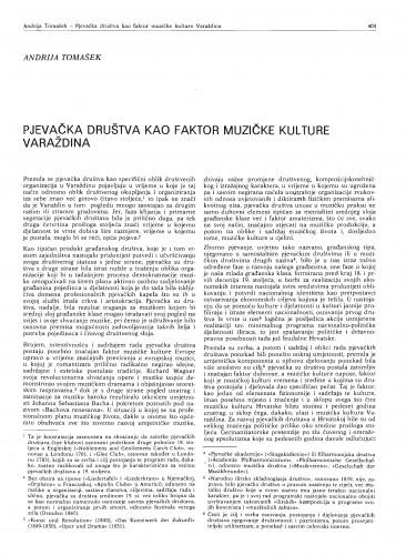 Pjevačka društva kao faktor muzičke kulture Varaždina