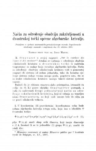 Način za određenje obadviju zakrivljenosti u dvostrukoj točki općene algebarske krivulje
