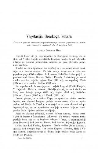 Vegetacija Gorskoga kotara