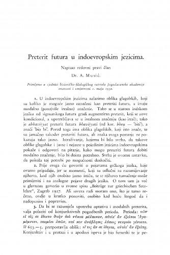 Preterit futura u indoevropskim jezicima