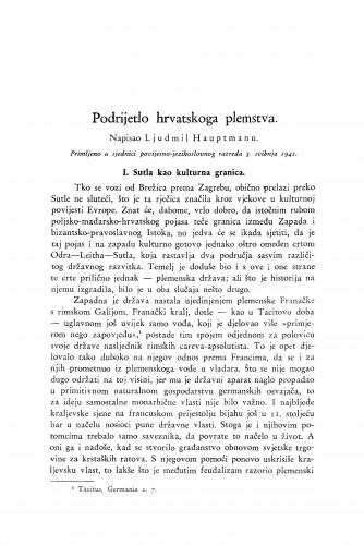 Podrijetlo hrvatskoga plemstva