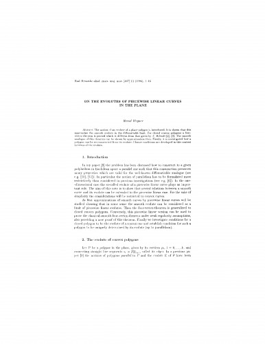 On the evolutes of piecewise linear curves in the plane