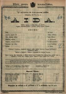 Aida : Velika opera u četiri čina / od Verdia