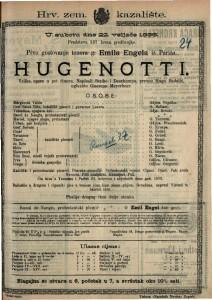 Hugenotti Velika opera u pet činova / uglazbio Giacomo Meyerbeer