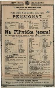 Penzionat Komična opereta u dva čina / Glazba od Franje pl. Suppéa