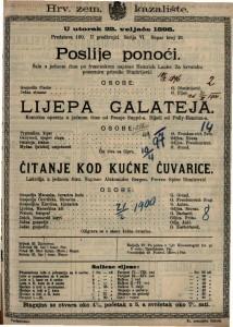 Poslije ponoći Šala u jednom činu / po francuskom napisao Heinreich Laube