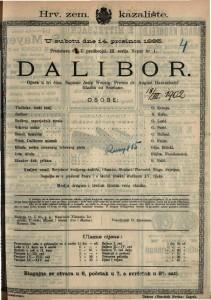 Dalibor Opera u tri čina / Glazba od Smetane.