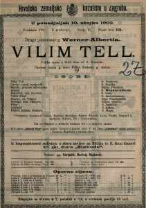 Vilim Tell : velika opera u četiri čina / od G. Rossinia