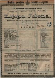 Lijepa Jelena : komična opera u tri čina / od J. J. Offenbacha
