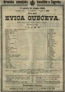 Evica Gubčeva pučka drama u pet činova / napisala Zagorka