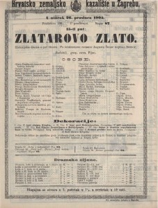Zlatarovo zlato historijska drama u pet činova / po istoimeno mromanu Augusta Šenoe napisao Ivanov