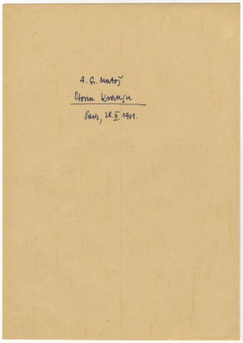 Korespondencija upućena Otonu Krausu