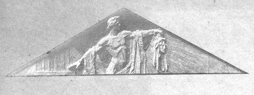 Valdec, Rudolf  : Apolon Delfijski - skica za timpanon Umjetničkog paviljona