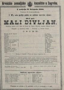 Mali divljan komična opera u tri čina / od Ivana pl. Zajca