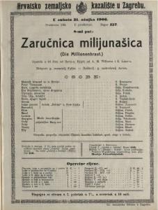 Zaručnica milijunašica opereta u tri čina / od Berté-a