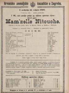 Mam'zelle Nitouche : opereta u tri čina (četiri slike)