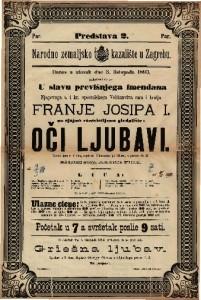 Oči ljubavi Vesela igra u 3 čina / napisala Vilhelmina pl. Hileru