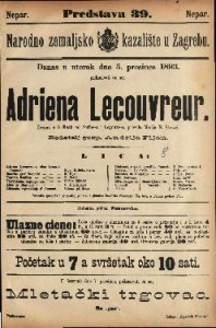 Adriena Lecouvreur : Drama u pet činah / od Scrib-a i Legouve-a