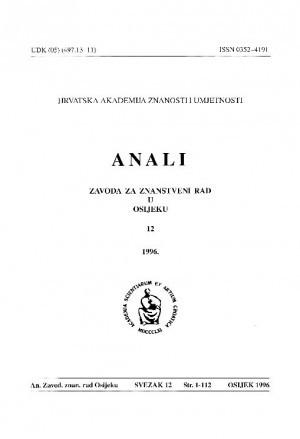 Sv. 12(1996) : Anali Zavoda za znanstveni i umjetnički rad u Osijeku