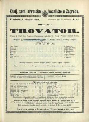 Trovator Opera u četiri čina