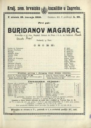 Buridanov magarac Komedija u tri čina