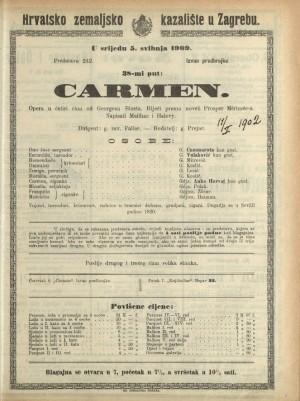 Carmen : Opera u 4 čina / od Georgesa Bizeta