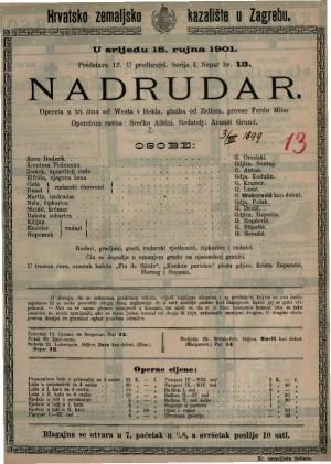 Nadrudar opereta u tri čina / glazba od Zellera