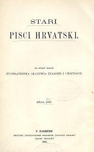 Poviest vanđelska bogatoga a nesrećna Epuluna i ubogoga a čestita Lazara : (Bogatstvo i uboštvo) : Stari pisci hrvatski