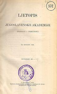 Za godinu 1921. Sv. 36 : Ljetopis