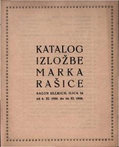 Katalog izložbe Marka Rašice