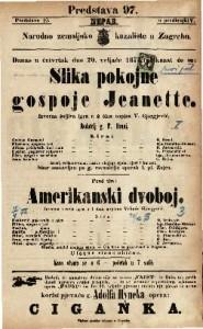 Slika pokojne gospoje Jeanette : Izvorna šaljiva igra u 2 čina / napisao V. Gjorgjević