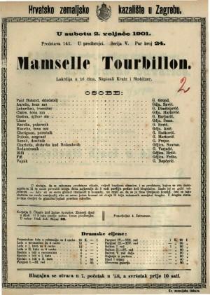 Mamselle Tourbillon lakrdija u tri čina / napisali Kratz i Stobitzer