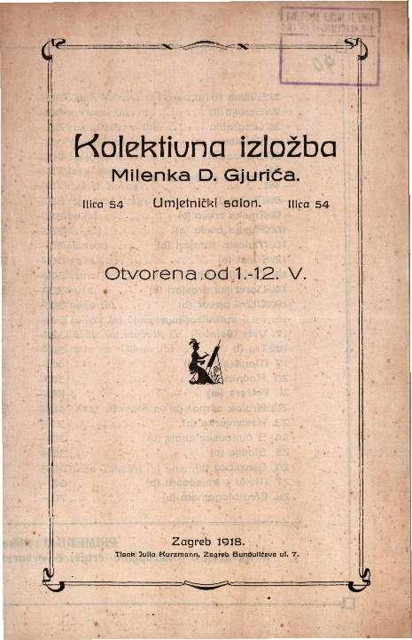 Kolektivna izložba Milenka D. Gjurića