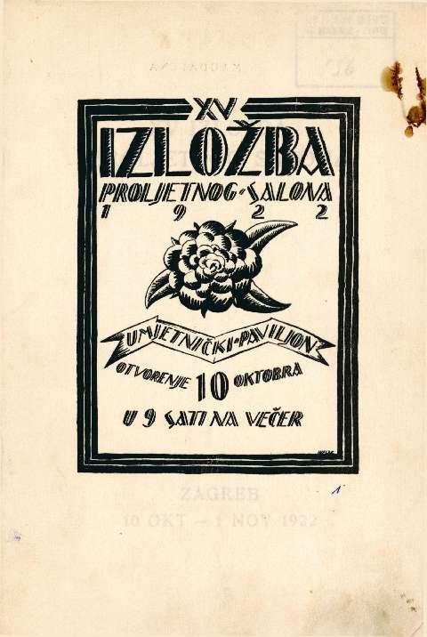 XV izložba Proljetnog salona 1922