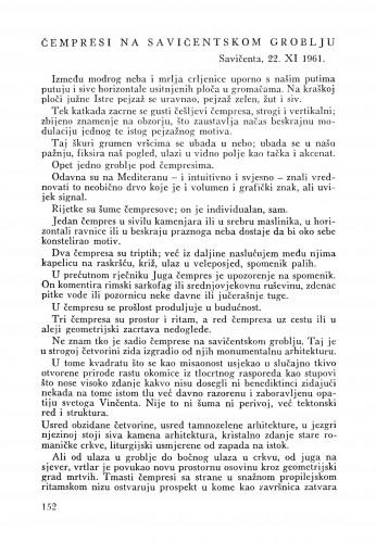 Čempresi na Slavičentskom groblju : Bulletin Zavoda za likovne umjetnosti Jugoslavenske akademije znanosti i umjetnosti