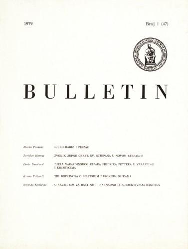 Br. 1(47) (1979) : Bulletin Razreda za likovne umjetnosti Jugoslavenske akademije znanosti i umjetnosti