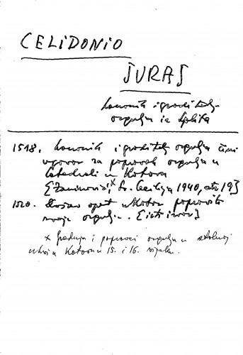 Celidonio Juraj kanonik i graditelj orgulja iz Splita