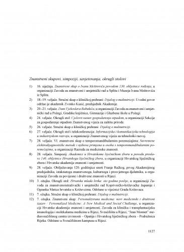 Kalendar događanja u 2014. u organizaciji, suorganizaciji ili pod pokroviteljstvom Hrvatske akademije znanosti i umjetnosti : Ljetopis