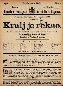 Kralj je rekao : Komična opera u 3 čina / glasba od Leona Delibesa