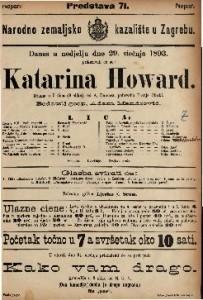 Katarina Howard Drama u 5 čina (8 slika) / od A. Dumasa