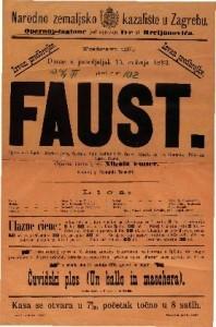 Faust Opera u 5 činah / Glasba od Ch. Gounoda
