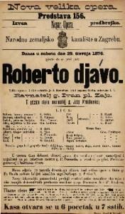 Roberto djavo velika opera u 5 čina / uglasbio ju J. Mayerbeer ; tekst napisao Scribe