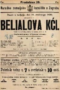 Belialova kći Vesela igra u 5 čina / napisao R. Kneisel