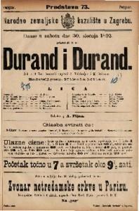 Durand i Durand Šala u 3 čina / francezki napisali A. Valabregue i M. Ordoneau