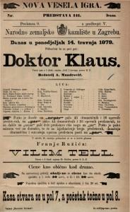 Doktor Klaus vesela igra u 5 činah / napisao Adolf L'Arronge